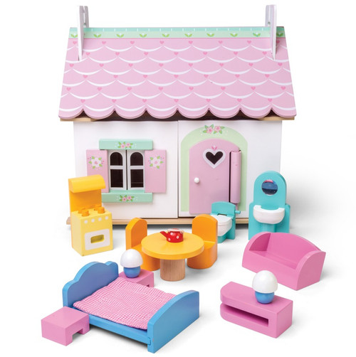 Le Toy Van Lily's Cottage With Furniture