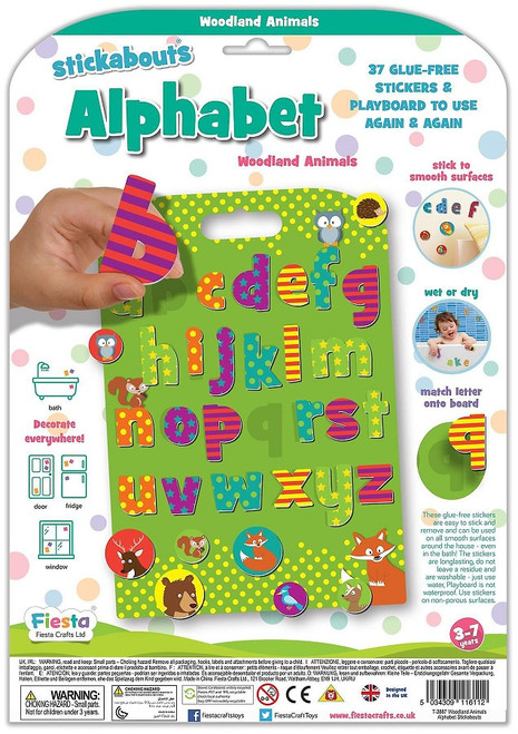 Fiesta Crafts Stickabouts Woodland Animals Alphabet Package