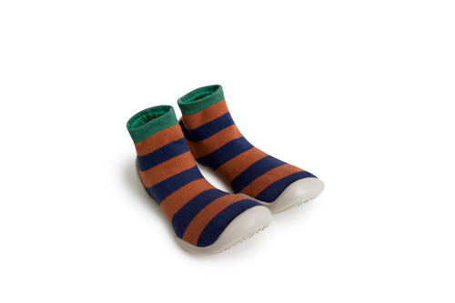 Collegien Slipper Socks Rayures Automnales
