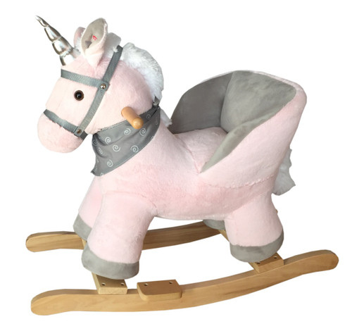 RockMe Rocking Unicorn Chair - Pink with sound