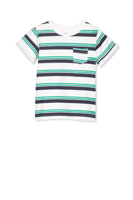 Milky Green Stripe Tee - Kid - Front