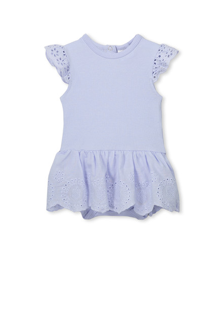 Milky Broderie Baby Dress - Front