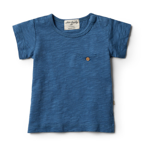 Wilson and Frenchy Deep Blue Tee with Pocket
