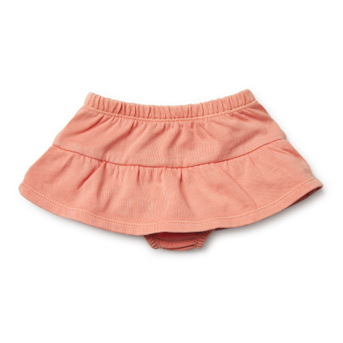 Wilson and Frenchy Peach Pearl Nappy Pant with Ruffle - Front