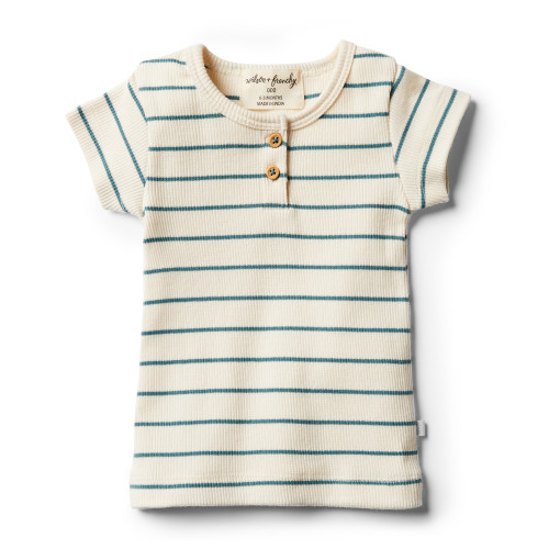 Wilson and Frenchy Organic Jungle Green Stripe Tee