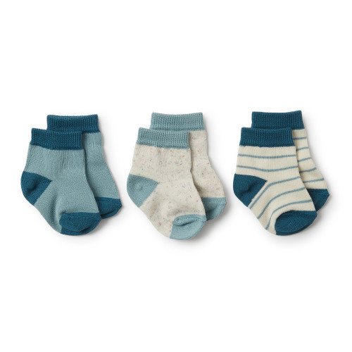 Wilson and Frenchy Jungle Green, Sage, Fleck 3 Pack Baby Socks