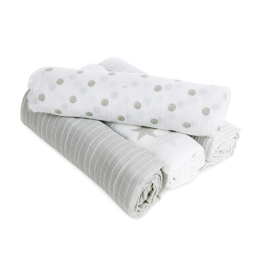 Aden by Aden + Anais Dusty Classic Muslin Swaddles Multi Pack 4