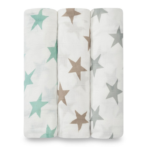 Aden + Anais Milky Way Silky Soft Bamboo Muslin Swaddles 3-pack