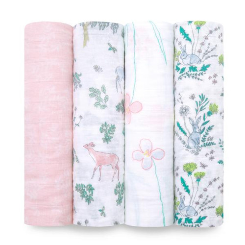 Aden + Anais Forest Fantasy Classic Muslin 4-pack Swaddles