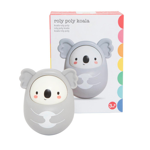 Tiger Tribe Roly Poly Koala with packaging - front view