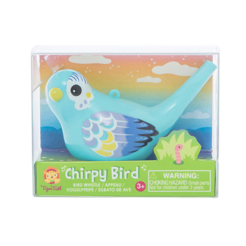 Tiger Tribe Chirpy Bird Whistle - Blue in packaging
