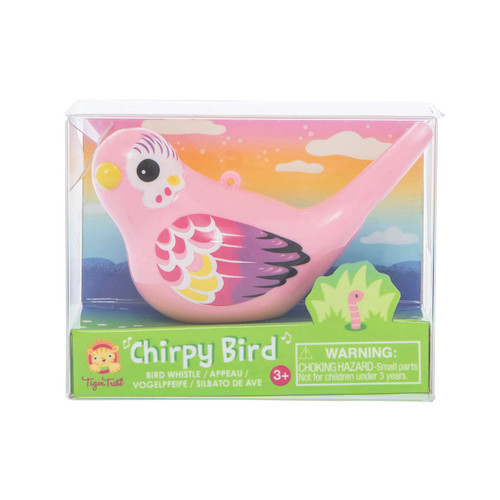 Tiger Tribe Chirpy Bird Whistle - Pink in packaging