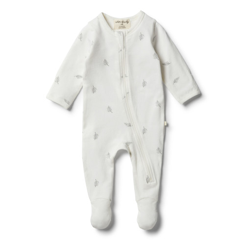 Wilson and Frenchy Organic Float Away Zipsuit - Front