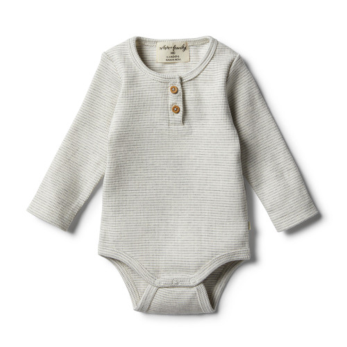 Wilson and Frenchy Organic Cloud Grey Bodysuit - Front