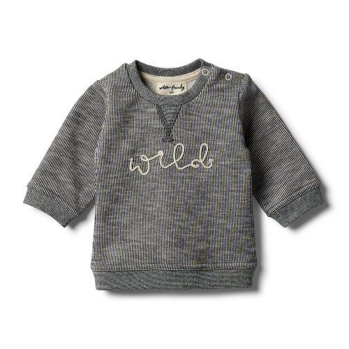 Wilson and Frenchy Grey Speckle Sweat Top - Front