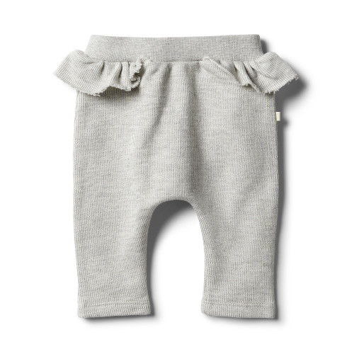 Wilson and Frenchy Oatmeal Speckle Ruffle Sweat Pant - Front