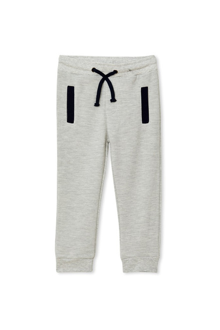 Milky Grey Track Pant - Front
