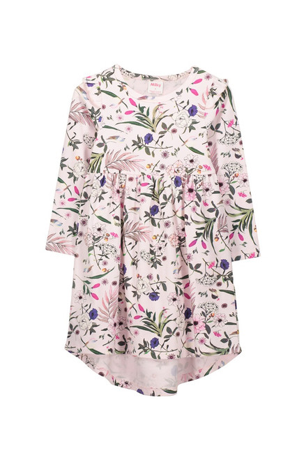 Milky Pretty Floral Dress - Front