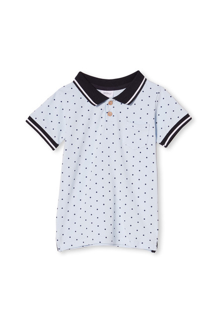 Milky Pale Blue Polo - Front