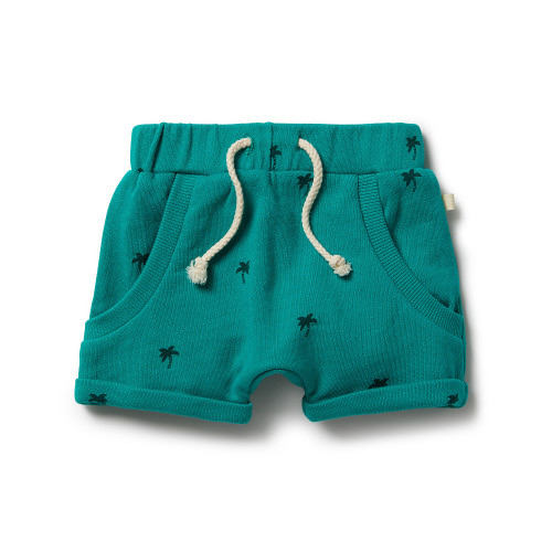 French Terry Slouch Shorts - Front