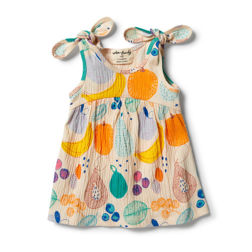 Wilson and Frenchy Crinkle Tie Dress Fruit Loop - Front