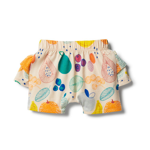 Wilson and Frenchy Organic Fruit Loop Ruffle Short - Front