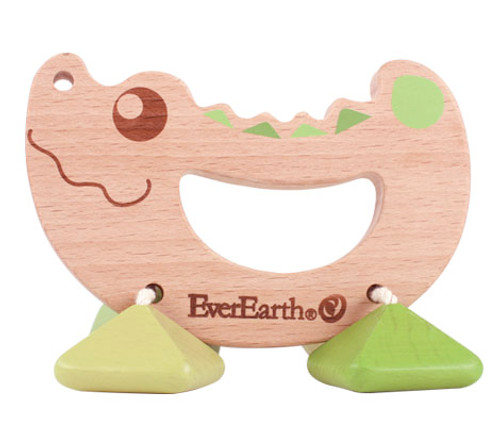 EverEarth Rattle Toy | Crocodile