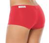 "Lowrise Mini Shorts - VEGAS RED -  FINAL SALE - MEDIUM - 2.75"" INSEAM"