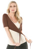 Yoga Wrap - Chocolate - FINAL SALE - S (1 AVAILABLE) - shown over Racer Doll Top (NOT INCLUDED)