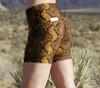 Cobra Bike High Waist Shorts  - Snake Print
