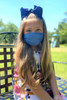 NON-MEDICAL Children's Pleated Face Cover with Ear Loops - Double Layer Butter Soft - solid color