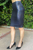 Eve Bodycon Midi Skirt - Glossy Python