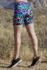 Cobra Retro Bike High Waist Shorts - Rebel Print
