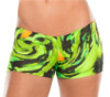 JNL - Hurricane Green Mini Shorts