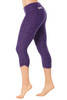 Sport Band Side Gather 3/4 Leggings - Butter