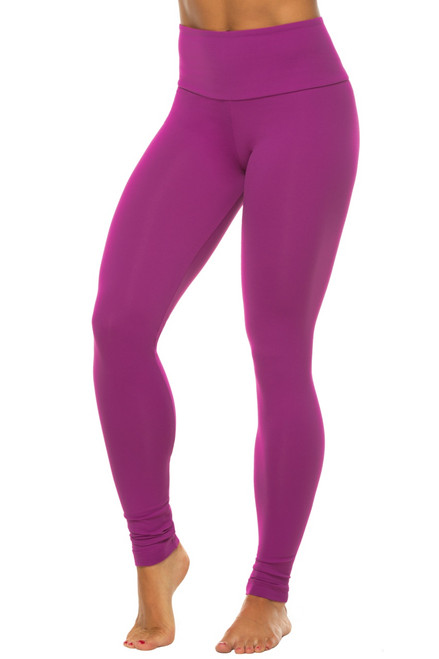 High Waist Leggings-Solid Color Supplex
