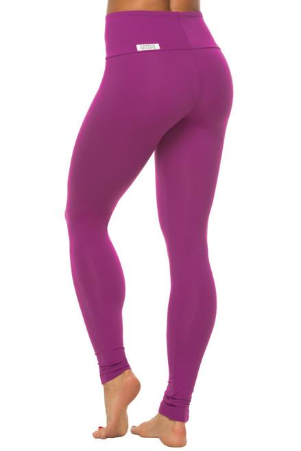 High Waist Leggings-Solid Color Supplex