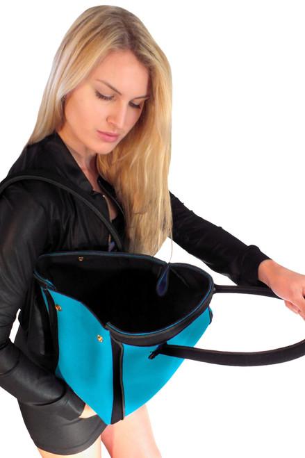 Blue Neoprene Handbag - FINAL SALE (1 Available)