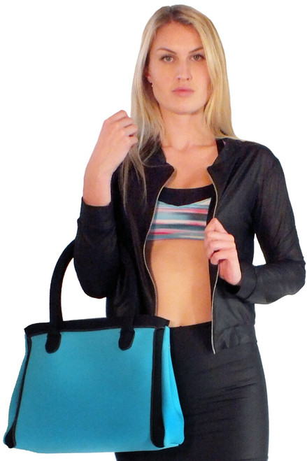 Blue Neoprene Handbag - FINAL SALE (1 Available)