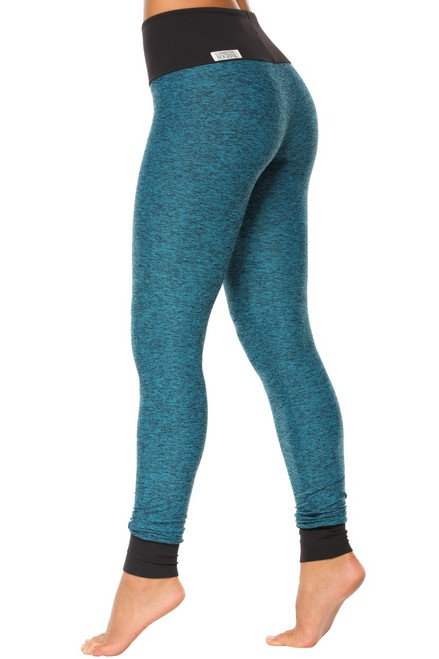 High Waist Cuff Leggings - Supplex accent on Butter