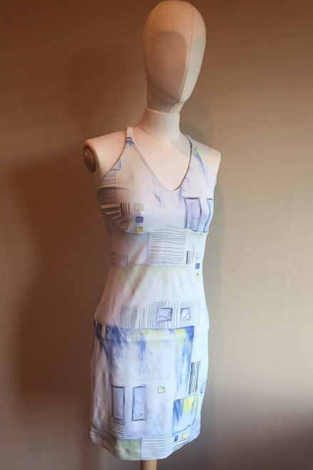 Racer Doll Dress - SAMPLE FINAL SALE - PENCIL PRINT - LARGE (1 AVAILABLE)