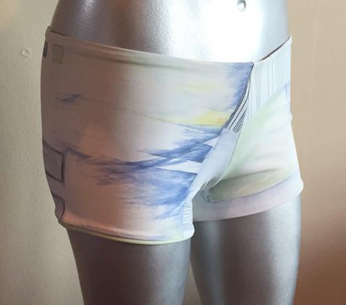 "Lowrise Double Layer Boy Shorts - Sample Final Sale - Pencil Print - Medium - 2"" Inseam  (1 AVAILABLE)"