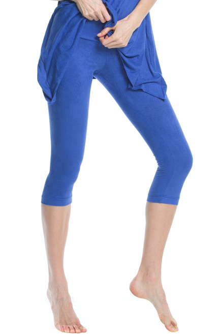 Stretch Suede Sport Band 3/4 Leggings - Tight