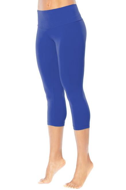High Waist 3/4 Leggings - Solid Color Supplex