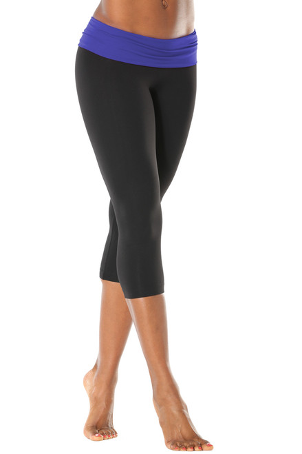 Rolldown 3/4 Leggings - Contrast Supplex
