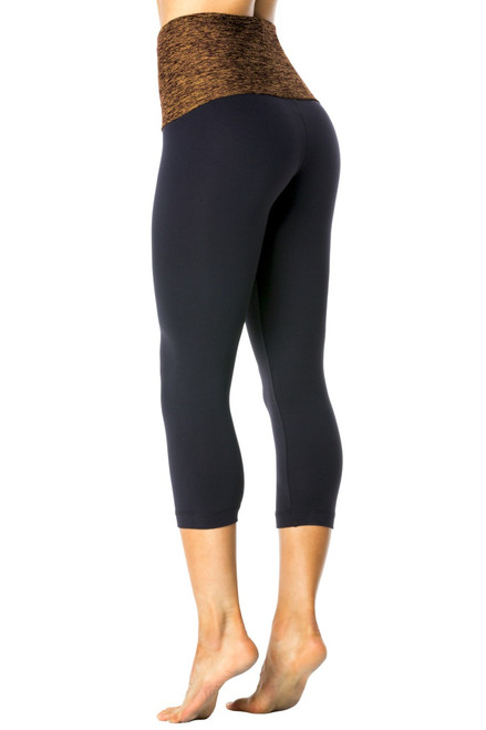 Rolldown 3/4 Leggings - Butter Accent on Supplex
