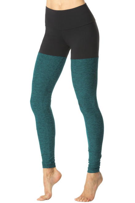 Power High Waist Color Block Leggings - Supplex on Butter