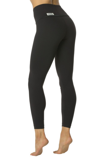 High Waist Leggings - Wet Halo accent on Black Supplex