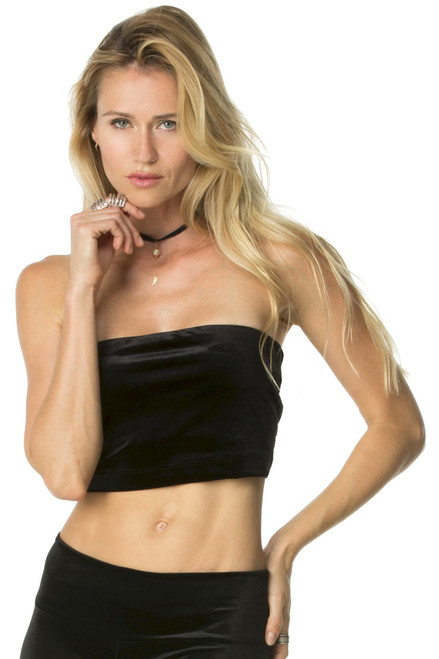 Stretch Velvet Bandeau