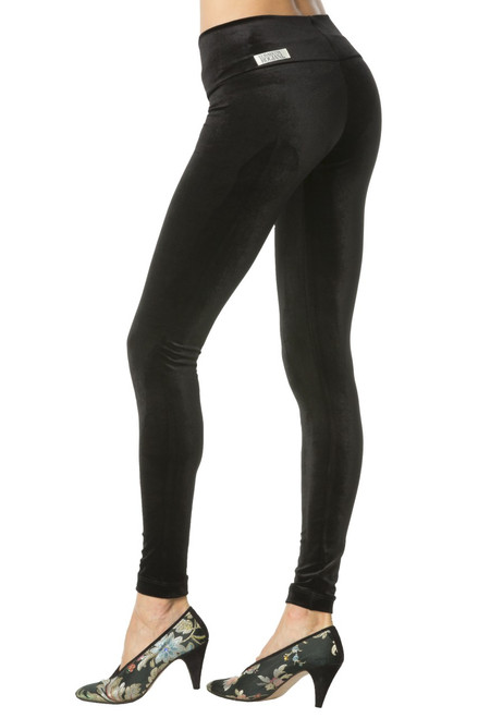 Stretch Velvet Sport Band Leggings